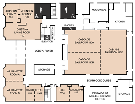 Map of CH2M HILL Alumni Center