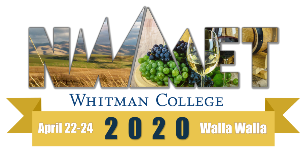NWMET Whitman College April 22-24, 2020, Walla Walla logo image